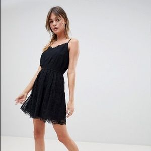Abercrombie & Fitch Mesh Dress with Strap Detail